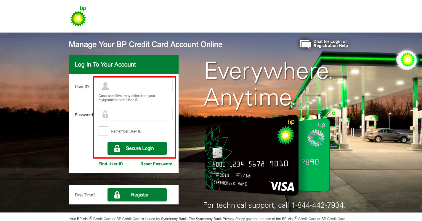 BP Credit Card Login