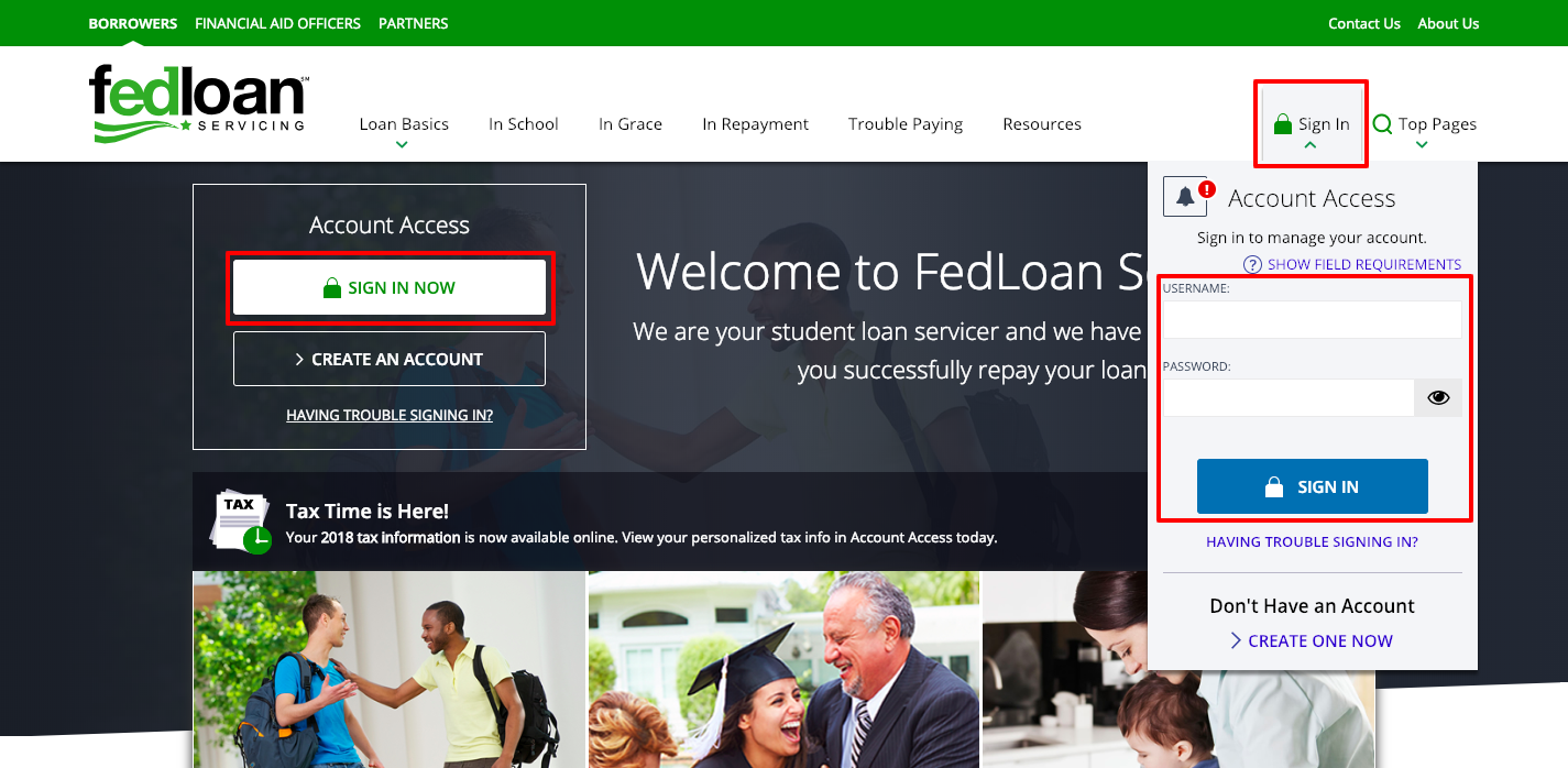 Fedloan Servicing Login