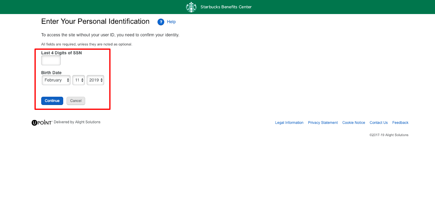 How to login to Starbucks Benefit Portal