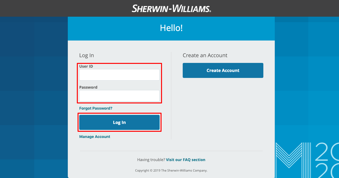 MySherwin Employee Login