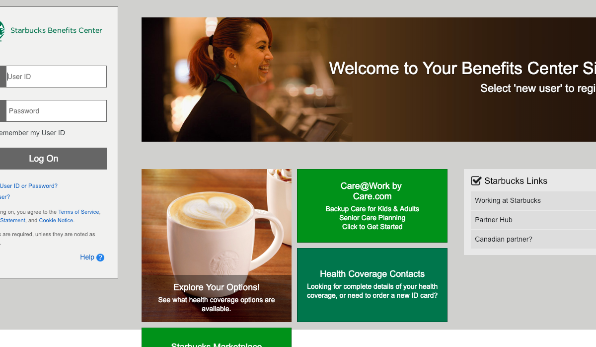 www.mysbuxben.com – Starbucks Benefits Login