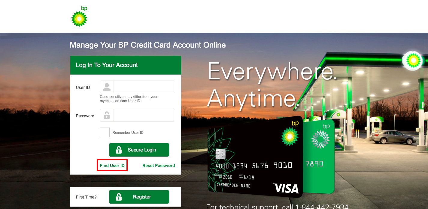 bp card login