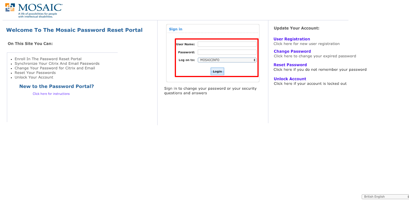mosaic payroll employee login