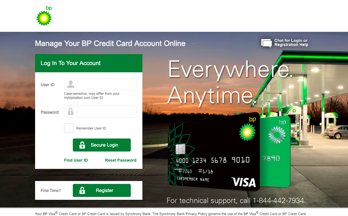 www.mybpcreditcard.com – BP Credit Card Login