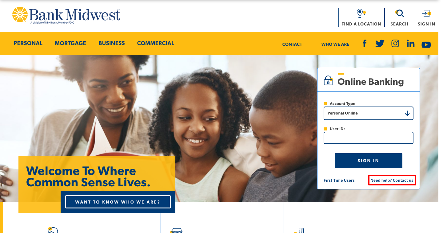 Bank Midwest Online Login