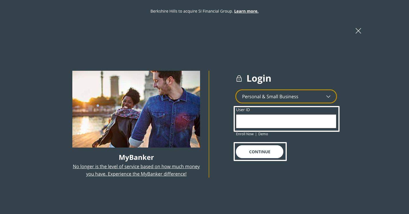Berkshire Bank Online Banking Login