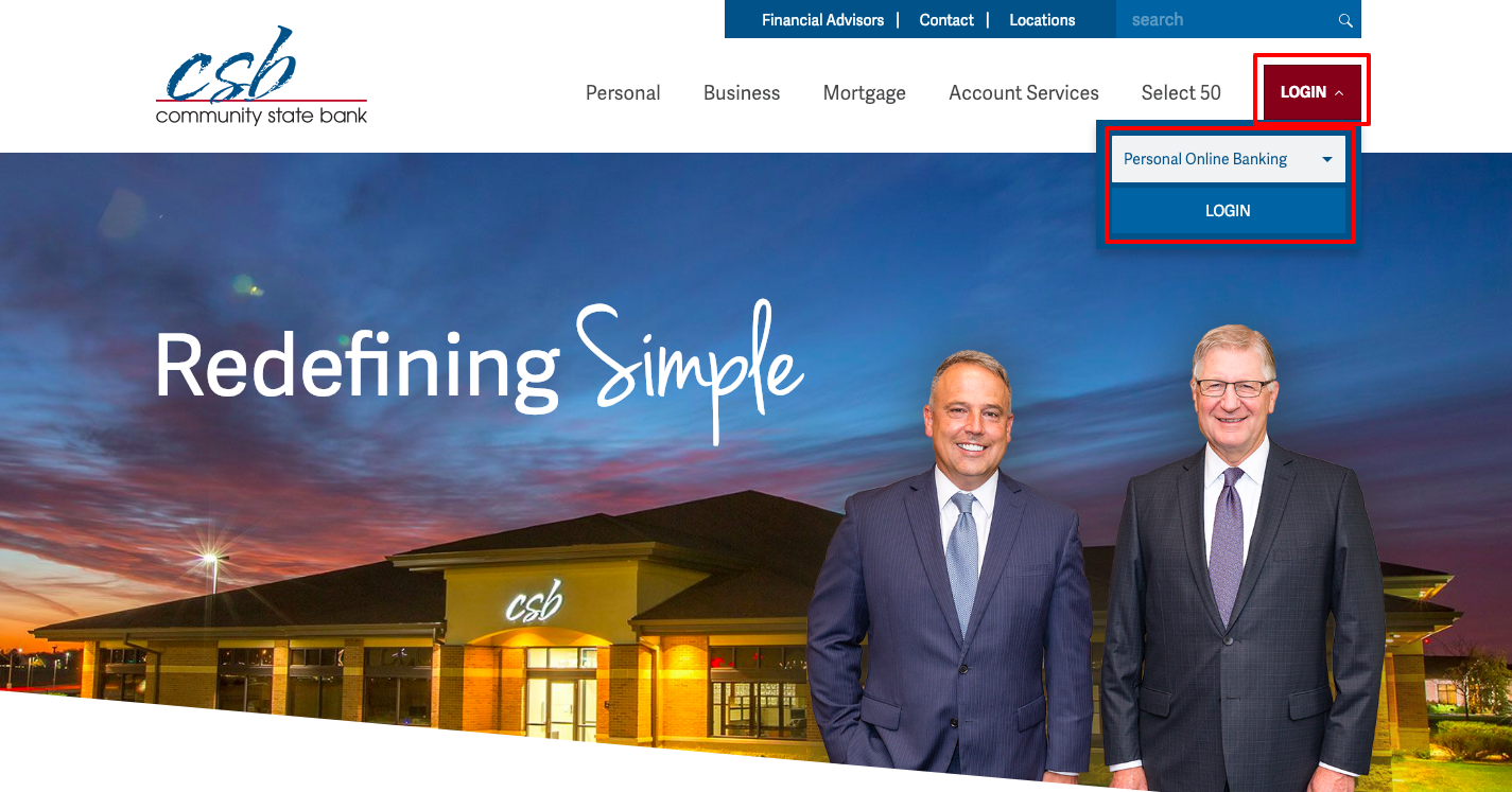 Community State Bank Online Banking Login