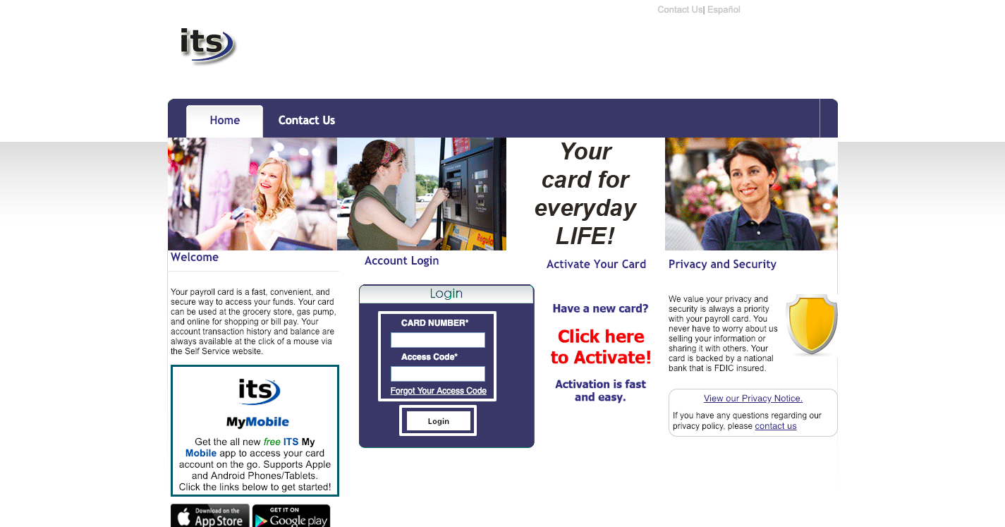 ITS Prepaid Self-service Portal Login