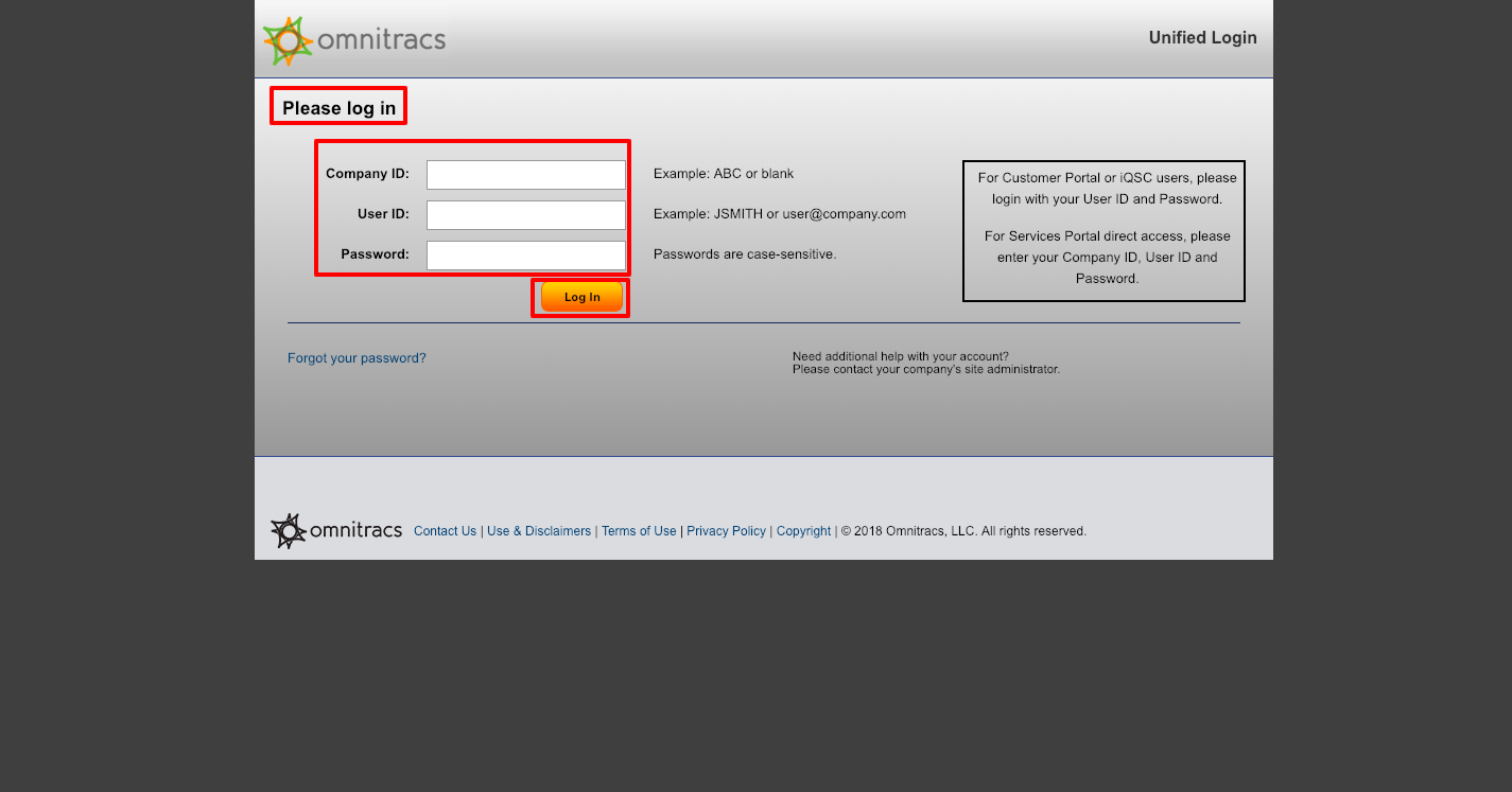 Omnitracs Customer Portal Login