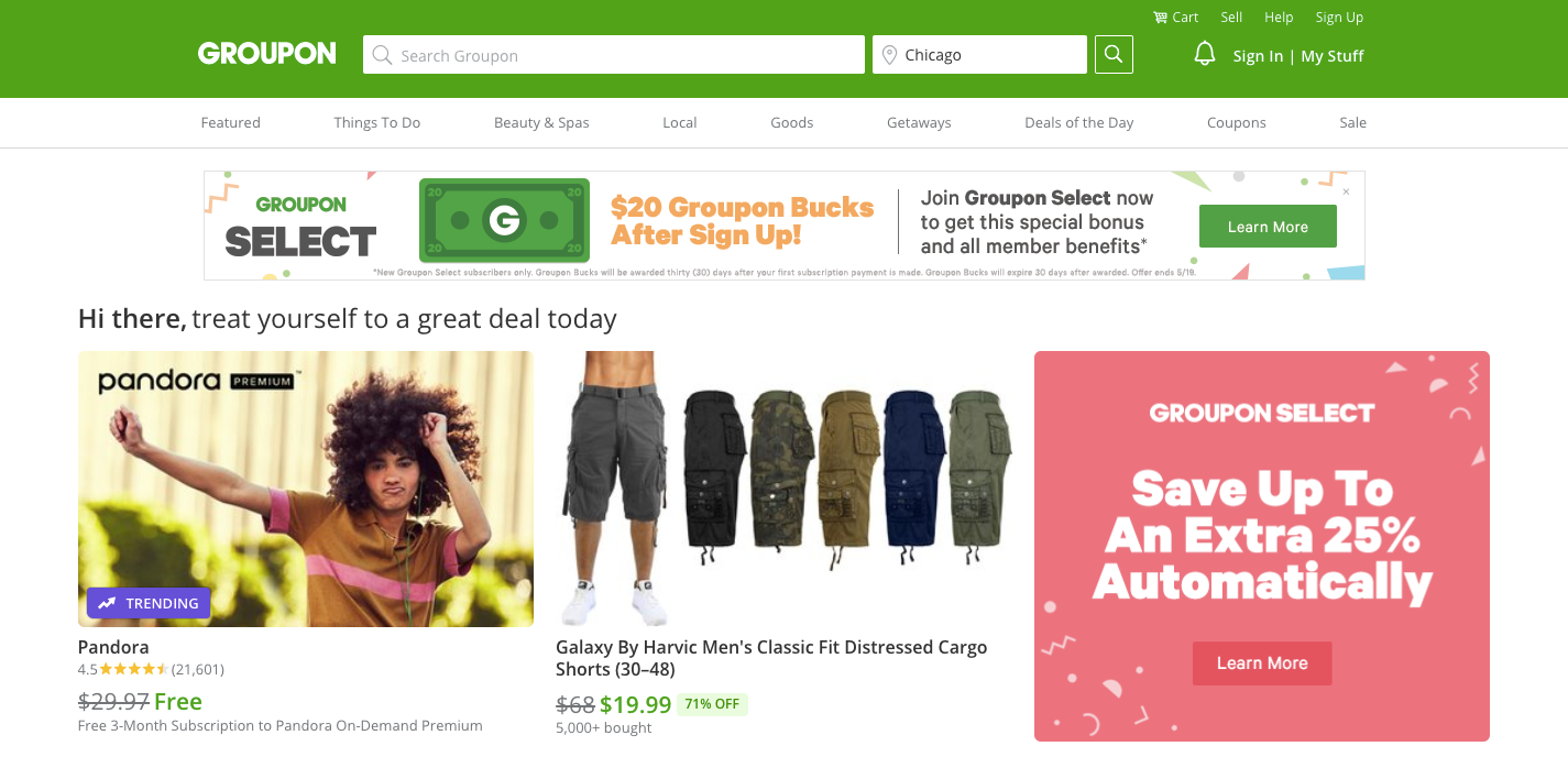 Groupon Deals and Coupons