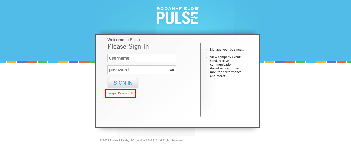 My Rodan & Fields Pulse Login