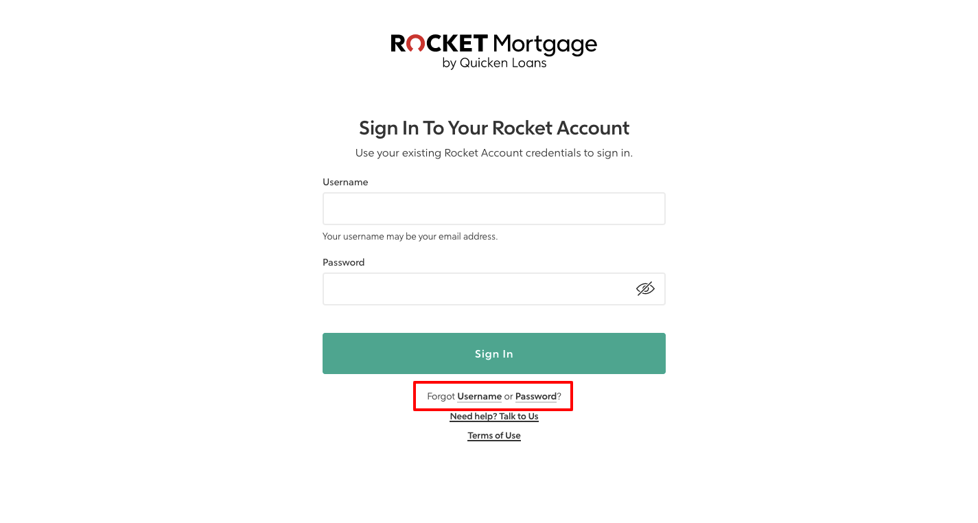 rocket mortgage sign in
