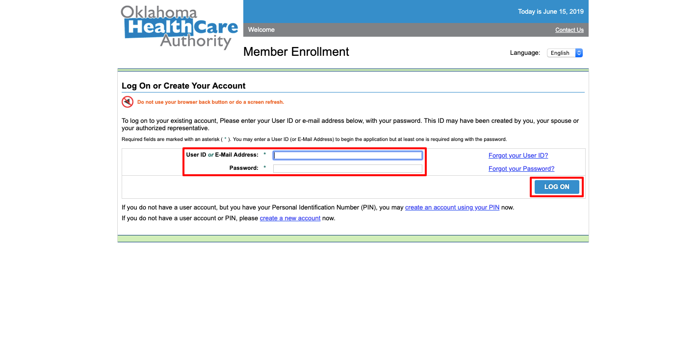 soonercare login