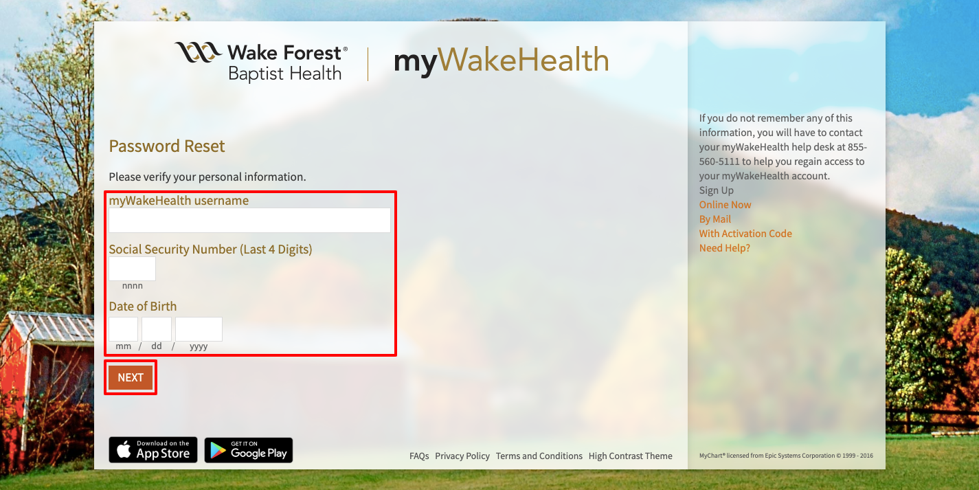 wake forest login