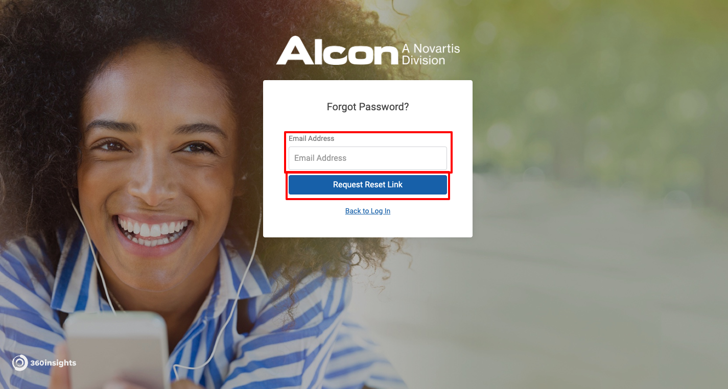 alcon forgot password