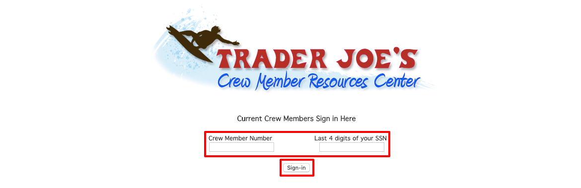 Trader Joe's employee login