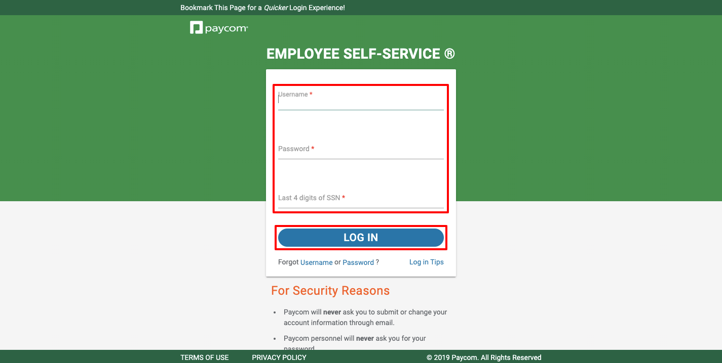 paycom online employee login