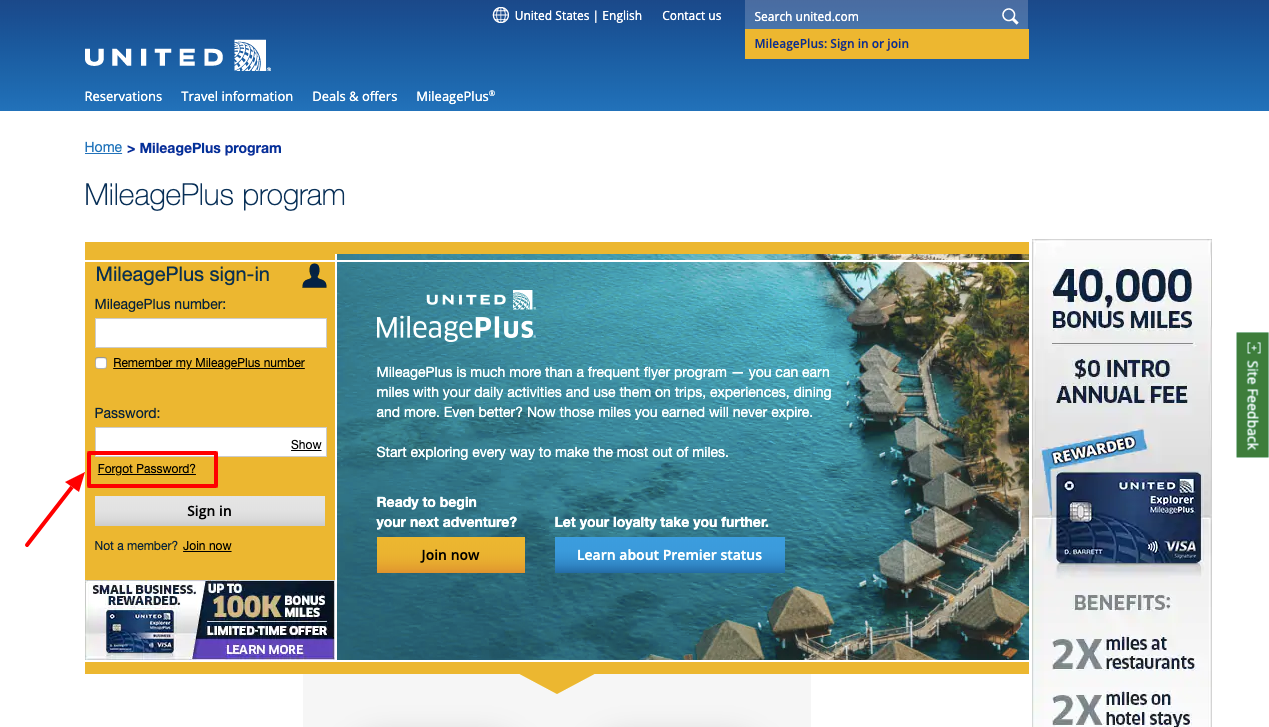 united airlines mileageplus account sign in