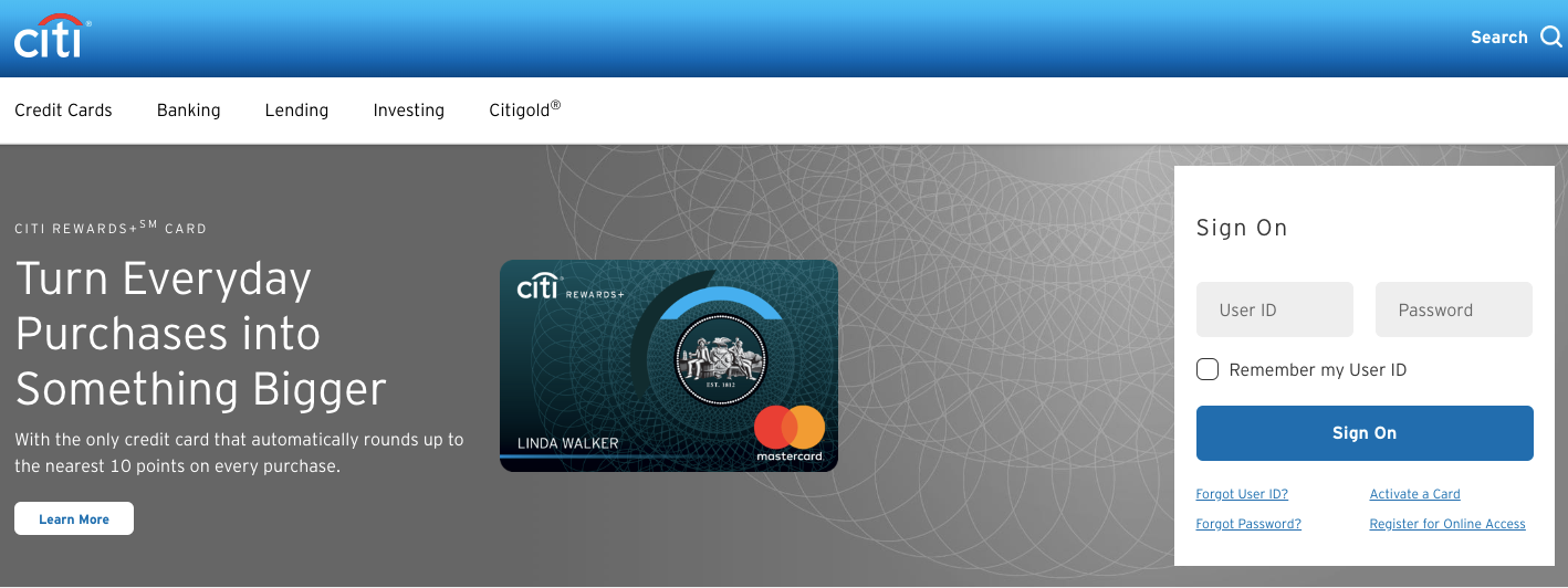 CitiBank Online Banking