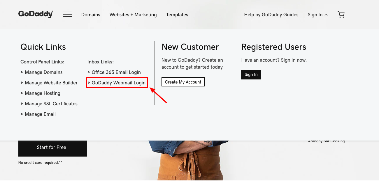 GoDaddy Webmail Login
