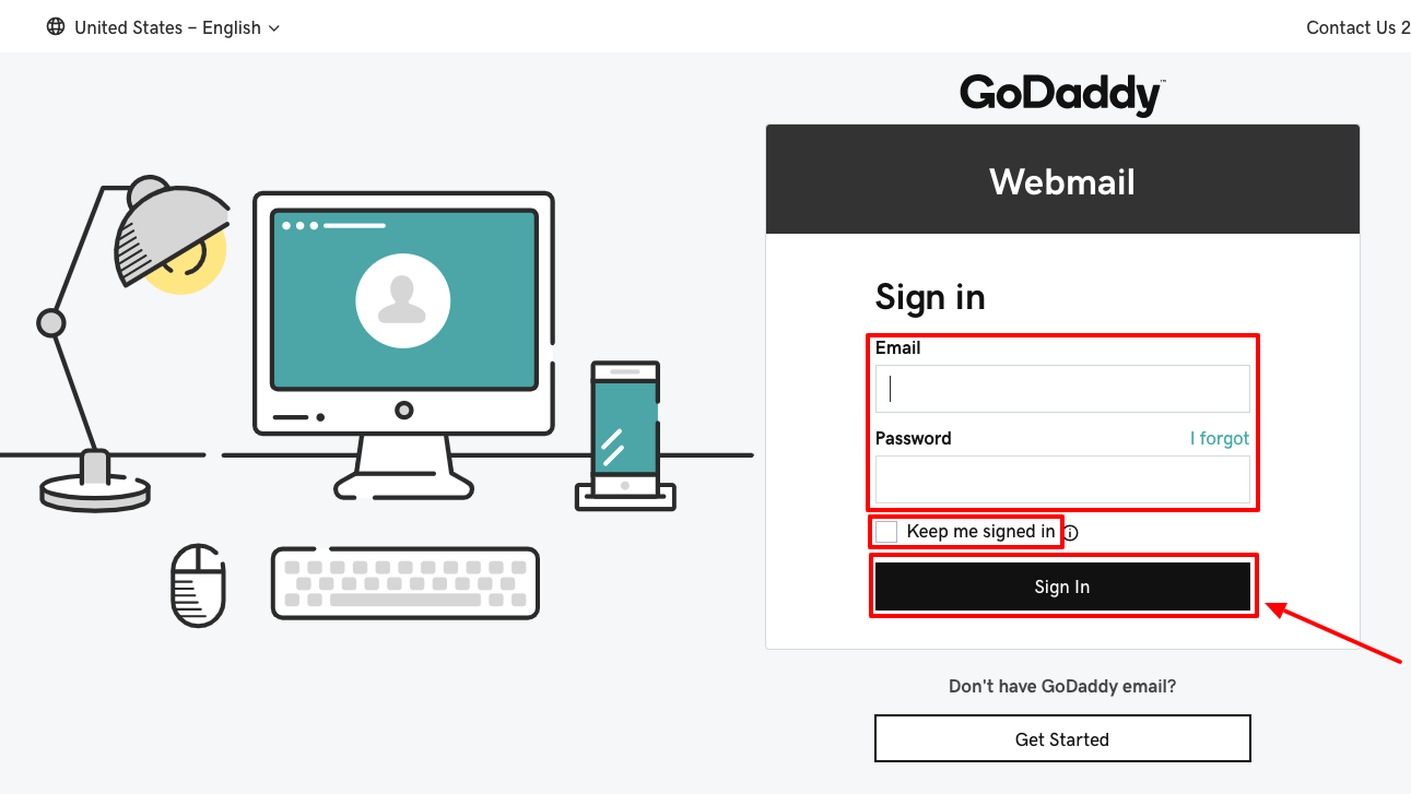 GoDaddy Webmail Sign in