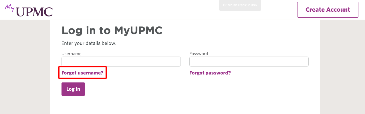 upmc account login