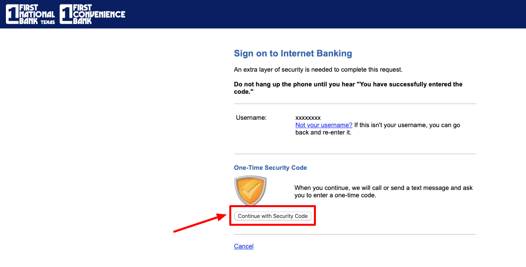 First Convenience Bank online login