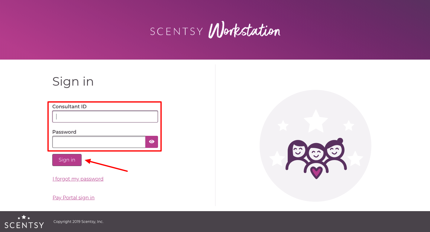 Scentsy Workstation Login