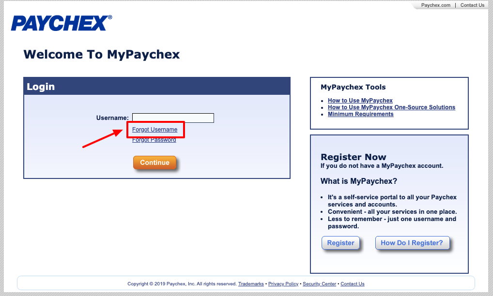 paychex employee portal login