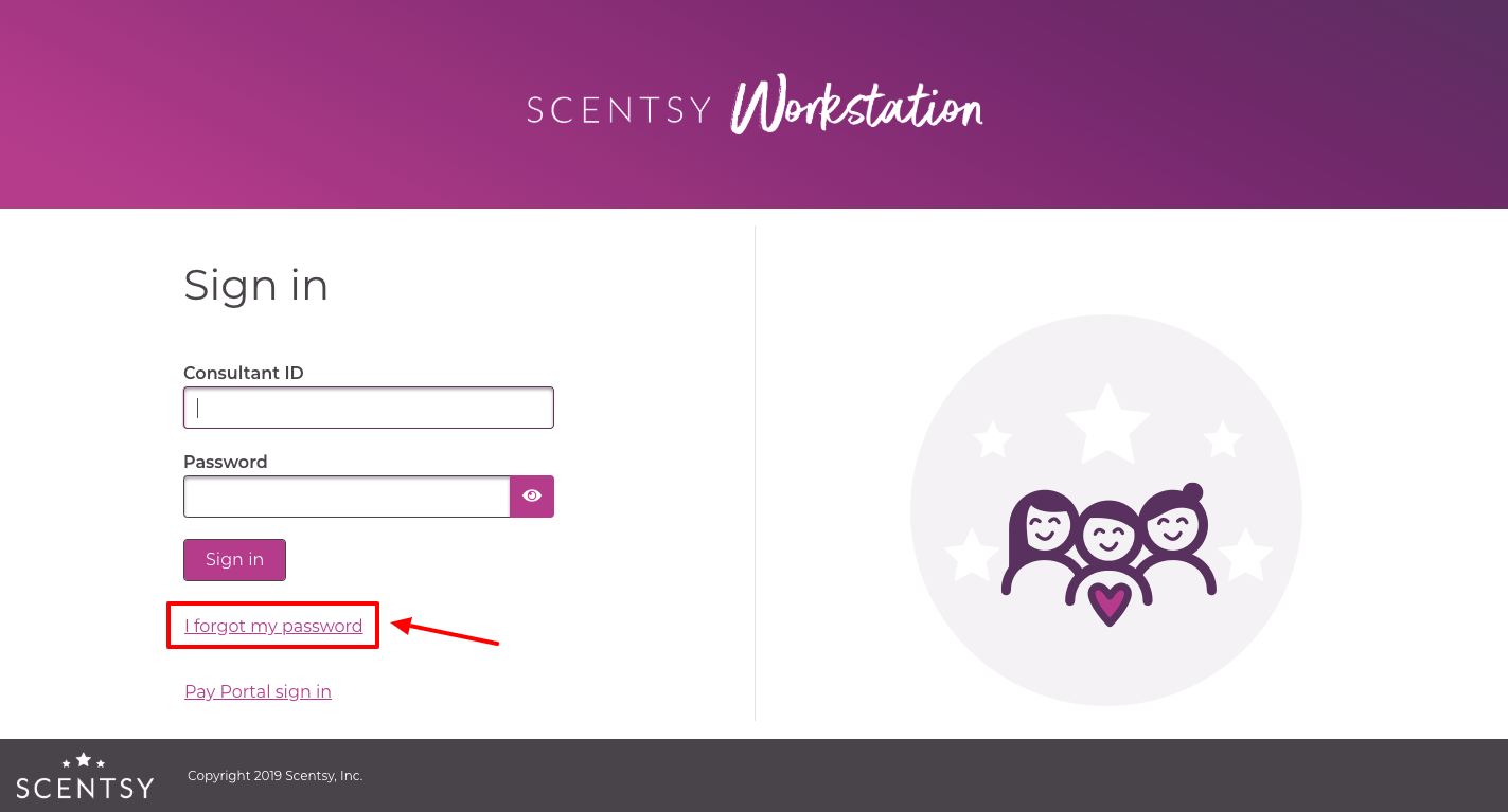 scentsy workstation consultant login