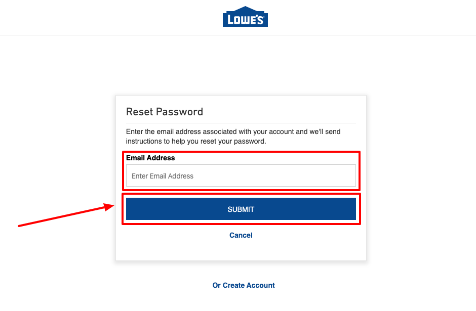 lowe's forgot password