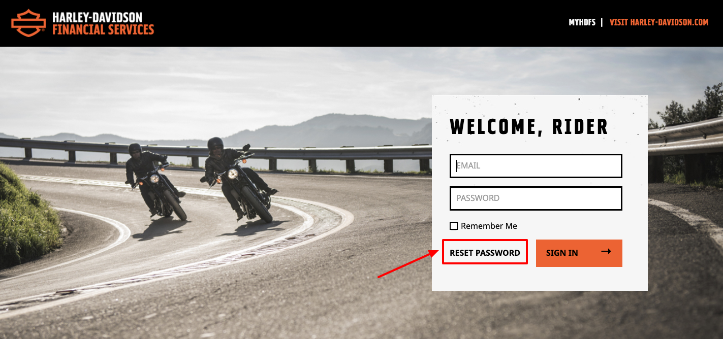 Harley-Davidson Financial Services Login