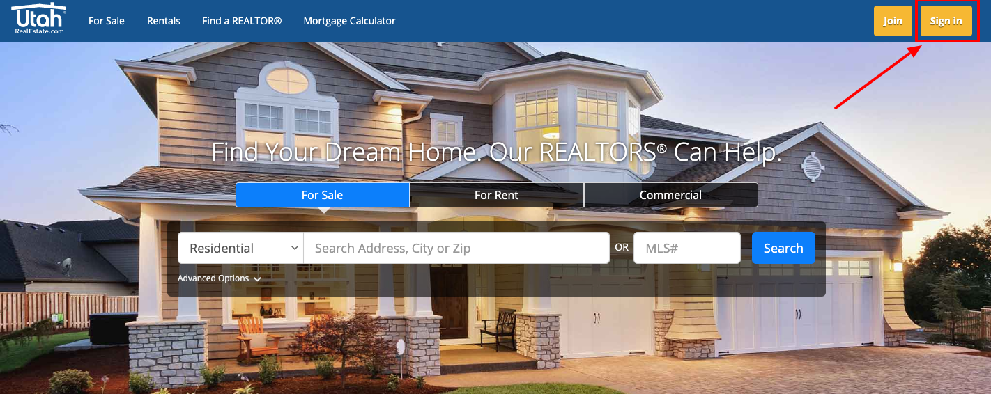Utah Real Estate login