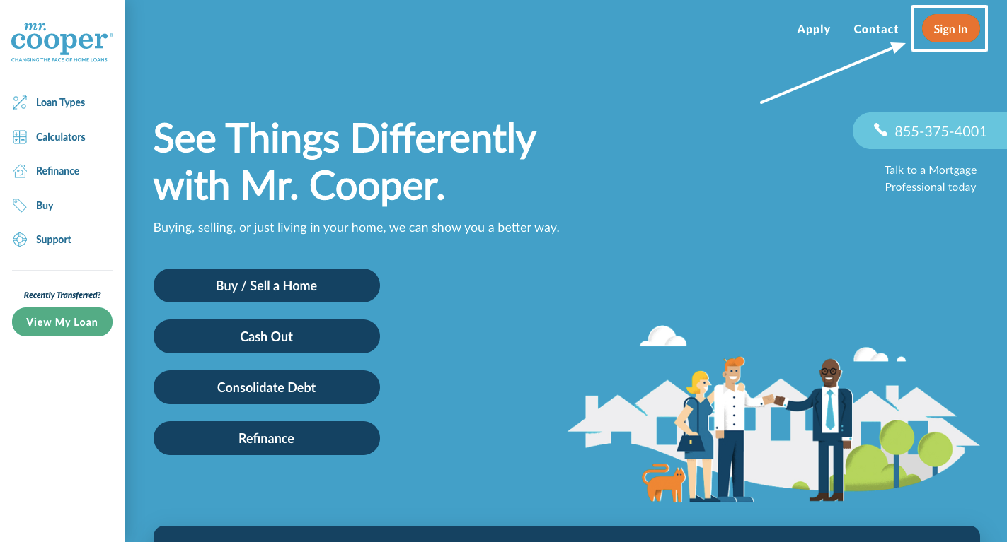 mr cooper mortgage login