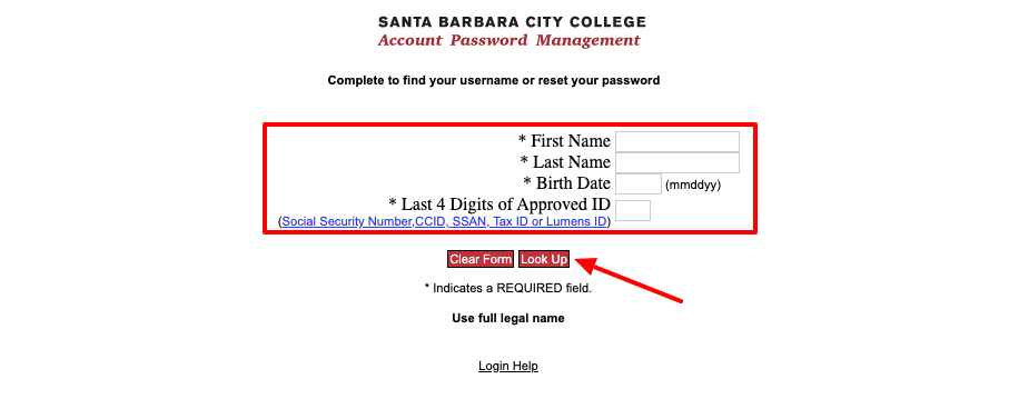 Santa Barbara City College Student Portal Login