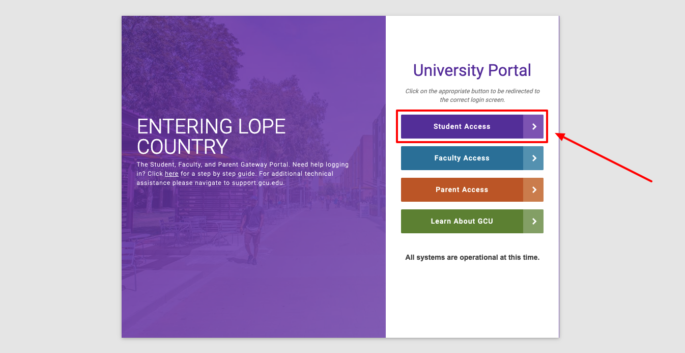 Grand Canyon University Student Login