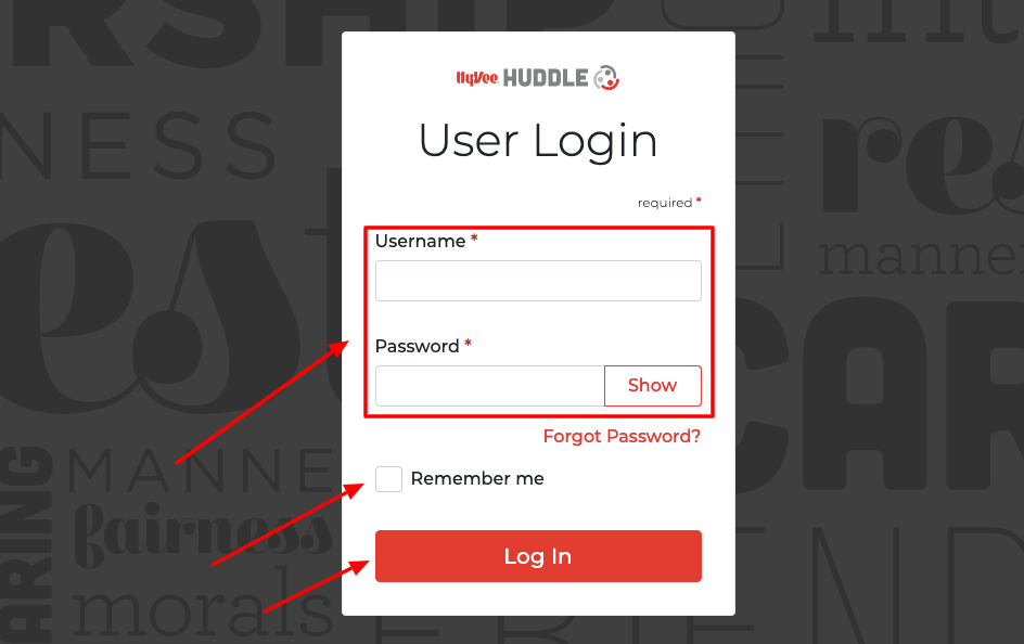 Hy-Vee Huddle employee Login