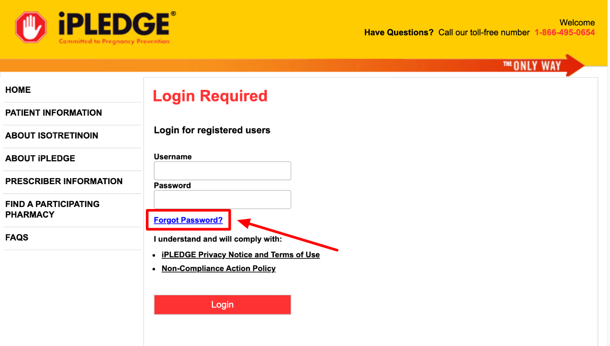 iPledge Login