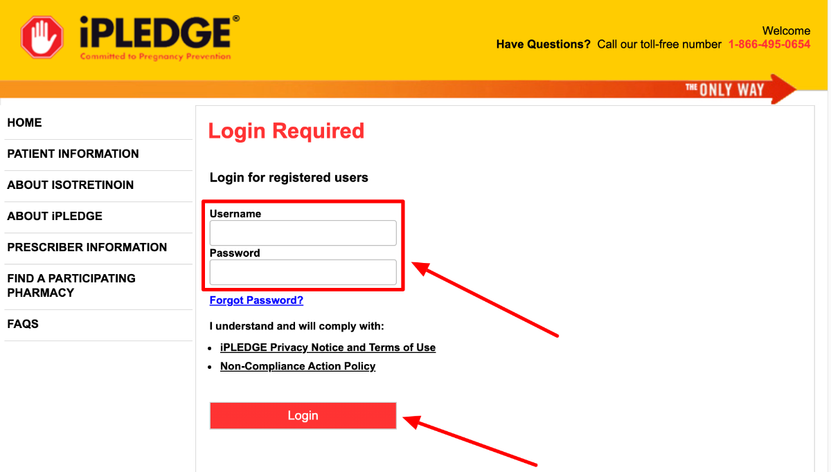 iPledge REMS Login